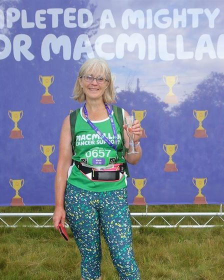 Michelle Harris after her Dedham Vale hike for Macmillan Cancer Support
