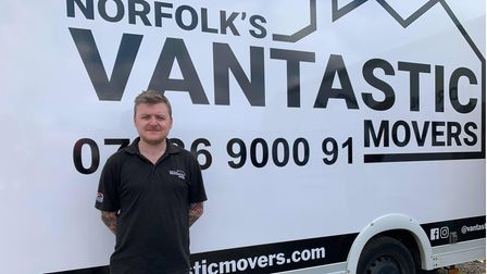Owner ofThe removal company Vantastic, Adrian Simpson.