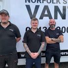 The staff on Vantastic, Christopher Keys (right) Adrian Simpson (centre) and Nik Hill (left).