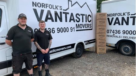 The staff on Vantastic, Christopher Keys (left) and Adrian Simpson (right).