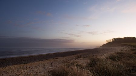 Day becomes night on Covehithe beach