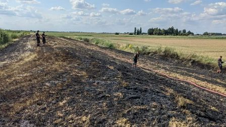 Fire in the open at Chatteris