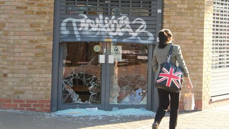 Shame on the nation... 2011 summer riot damage at Specsavers
