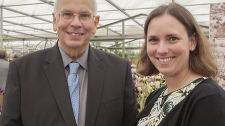 Directors David Howard and Christine Howard pictured at RHS Chelsea 2015