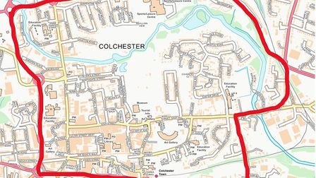 A map showing the area covered by the dispersal order in Colchester