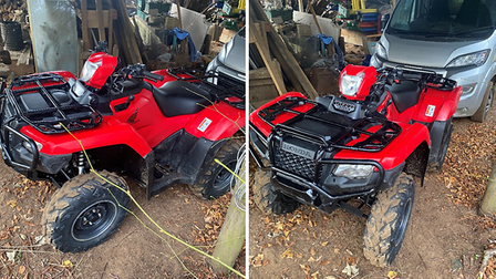 This quad bike was stolen fromPoplar Park Equestrian Centre on Heath Road,Hollesley