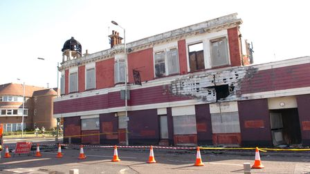 The Westbury Arms pub on Ripple Road was set alight and all that remains now is a shell of the build
