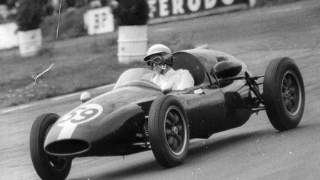 J.R. Lewis in a Cooper during the Vanwell Trophey race at Snetterton in 1960