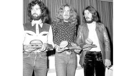 File photo dated 16/09/1970 of the members of Led Zeppelin, (from left to right), Jimmy Page, Robert