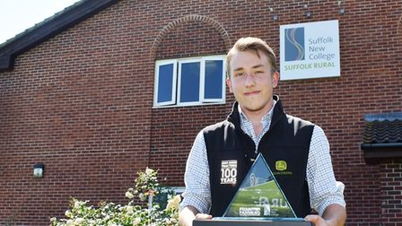 Olly Spiers from Suffolk Rural, Suffolk Agricultural Apprentice of the Year