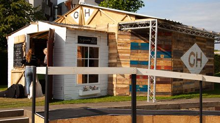 Pop-up playhouse in the park for the summer