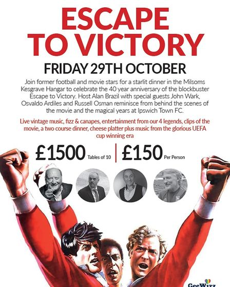 Escape to Victory event to be held at Milsoms Kesgrave Hangar