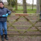 Kate Humble (right) with Katharine and Louis Falconer at their Alpaca farm in Norfolk.