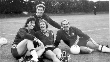 Terry Butcher, Paul Mariner, Eric Gates and Mick Mills