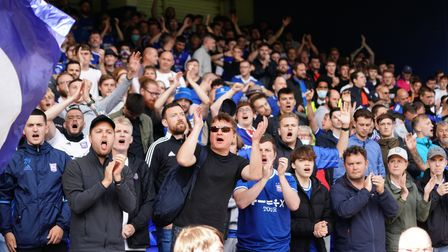 Town fans at the Morecambe game.