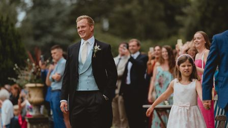 Lucy and Cameron Craig married at Kimberly hall near Wymondham.