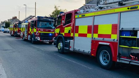House fire, Ness Road, Burwell