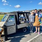 Barista Buoy, a converted Tuk Tuk selling Strangers Coffee,was awarded a temporary pitch on Gorleston seafront