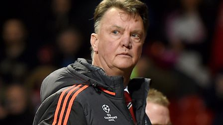Manchester United manager Louis van Gaal. Picture: Martin Rickett/PA Wire.