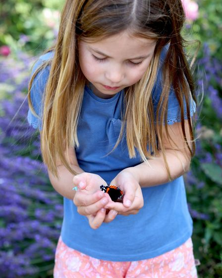 princess charlotte holding butterfly