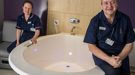 The new midwife led bithing unit calle the Waterlily birth Centre at the Queen Elizabeth Hospital in