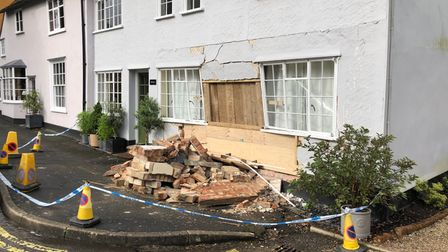 A car drove into a cottage in Boxford leaving severe damage