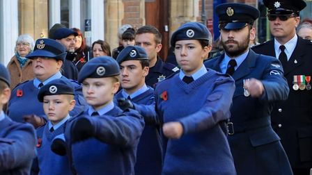 1094 Ely Squadron air cadets parade