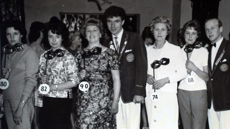 Beauty contest time at Butlins in Clacton around 1961 with Peachy Mead.