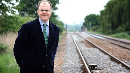 George Freeman MP at the Queen Adelaide level crossing which is situated after the Ely North junctio