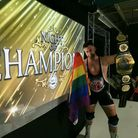 Brad Slayer, the reigning and defending WAW People's Champion, at Night of Champions 2021.