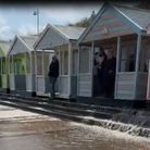 A video has shown huge rainfall in Southwold