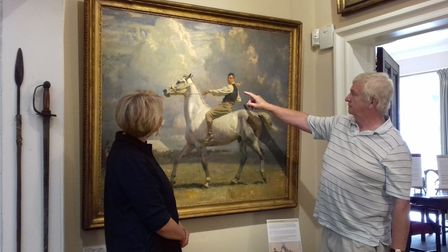 The Grey Horse, Ned Osborne being looked at by hisgrandson, John Osborne