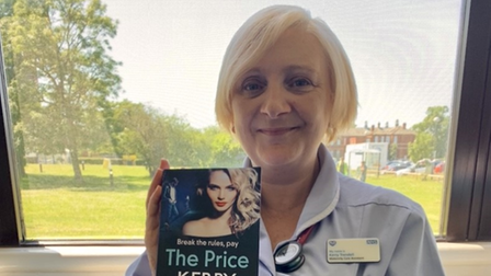 Kerry Trendel - aka Kerry Kaya - with 'The Price', her first novel published with Boldwood Books