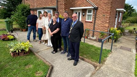 A scene from the official opening of the homes inNorthfield Waye, Wells,