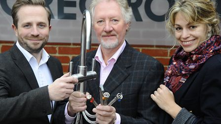Cawston based tap company Greg Rowe with their new 4 way tap which allows hot and cold running water