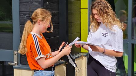 Emily Tume and Darcey Graham open their A Level results