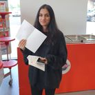 Robert Clack School pupilRumaysa Ahmed with her A Level results