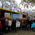 Marchers from Norwich arrive at Hyde Park, London. Picture: Supplied