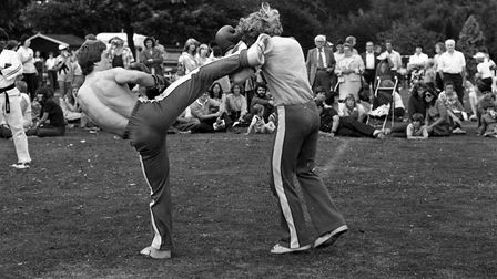 Kick boxing tournaments got underway, as the crowds looked on at the action in 1979 Picture: OWEN H
