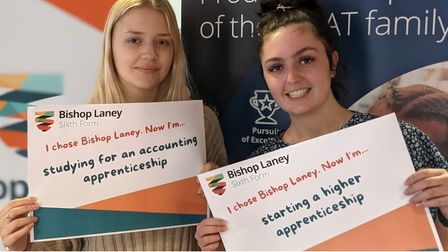 Joy and delight for A level successful students at Bishop Laney
