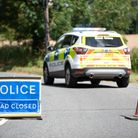 Elmswell Road remains closed in Great Ashfield after a tree fell onto power cables. Picture: Sarah
