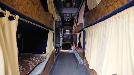 Norwich Homeless Support's night shelter in a converted coach.