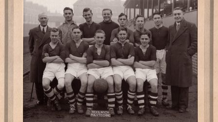 Ted Kirk pictured in his school team on the far right on the front row.