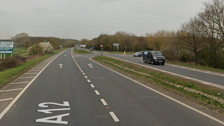The crash, involving an Alfa Romeo and a Ford Ecosport, happened on the A12 at Saxmundham