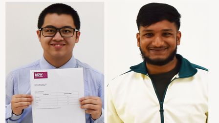 Off to Uni from Bow School...Jame Huynh (left) and Ishmam Ahmed