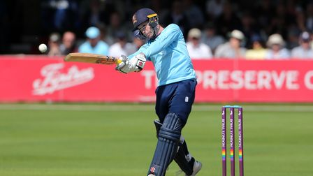 Adam Wheater in batting action for Essex against Sussex Sharks