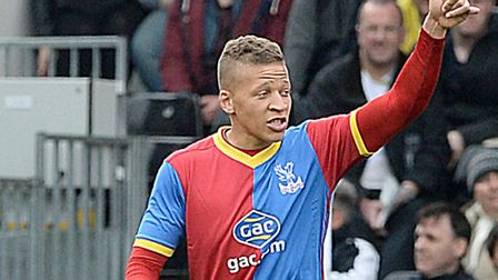 Crystal Palace's Dwight Gayle was heavily touted with a Norwich City summer move. Photo: Anthony Dev