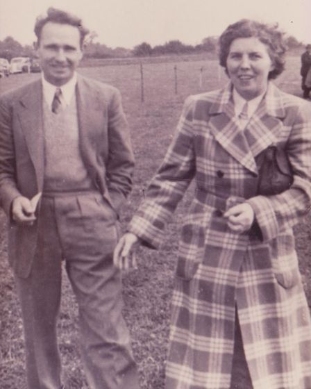 Bertie and Elanor 'Kit' Graves at the Royal Norfolk Show in 1955.