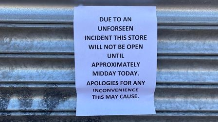 The store is expected to be closed until midday today