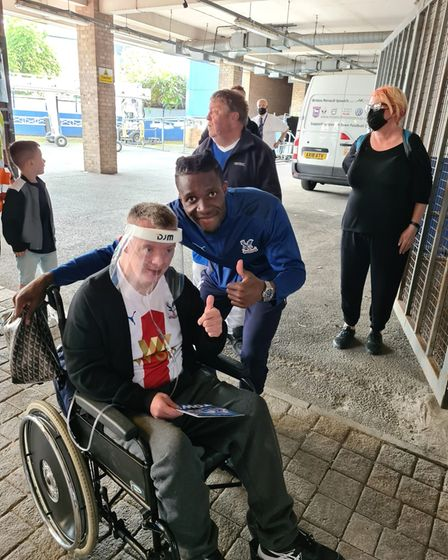 The 42-year-old met match winner Wilfried Zaha at the Ipswich home